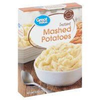 Great Value Instant Mashed Potatoes, 9 oz