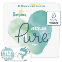 Pampers Aqua Pure Sensitive Baby Wipes 2X Pop-Top 112 Count