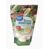 Great Value, Hard Boiled Eggs, 6 Count