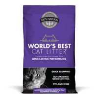World's Best Cat Litter Lavender Scented Multiple Cat Clumping Formula