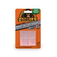 Gorilla Clear Mounting Tape Squares, 1