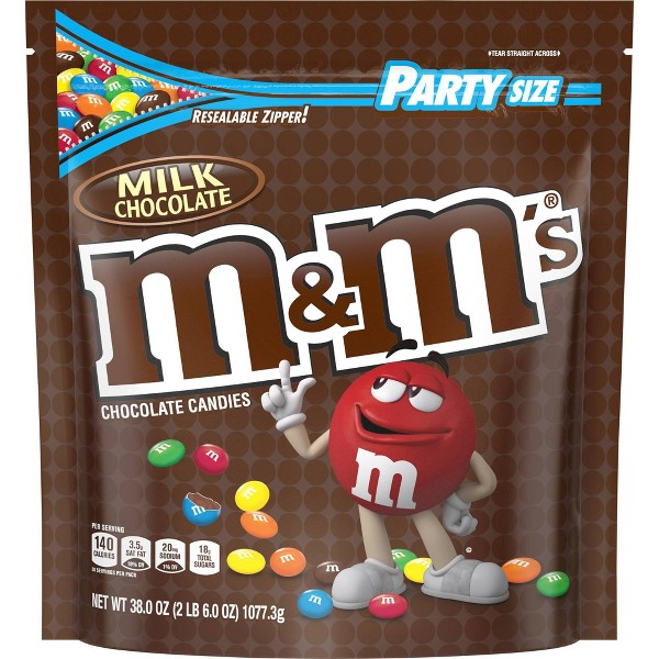 M&M's Party Size Milk Chocolate Candies - 38oz