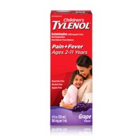 Children's Tylenol Pain + Fever Relief Medicine, Grape, 4 fl. oz
