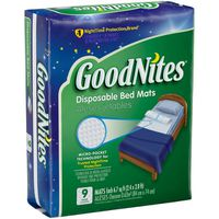 GoodNites Disposable Bed Mats for Bedwetting, 2.4 x 2.8 ft