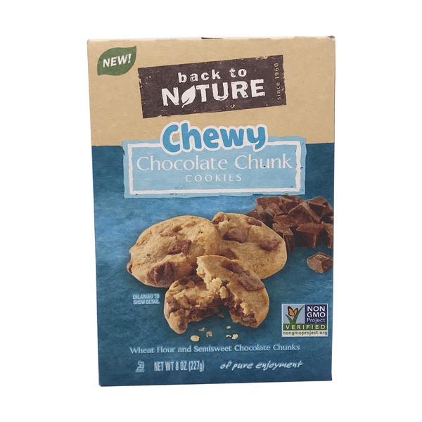 Back to nature Chewy Chocolate Chunk Cookies, 8 oz