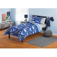 Your Zone Blue Dinosaurs Bed in a Bag Kids Bedding Set