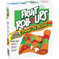 Fruit Roll-Ups, Peel 'N Build, 20 ct, 0.5 oz