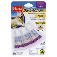 Hartz UltraGuard Dual Action Flea & Tick Topical for Large Dogs, 3 Monthly Treatments