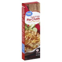 "Great Value 9"" Pie Crusts, 2 count, 15 oz"