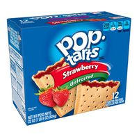 Kellogg's Pop-Tarts Breakfast Toaster Pastries Unfrosted Strawberry