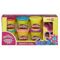 Play-Doh Sparkle 6-Pack of Glitter Play-Doh Compound in 2-Ounce Cans