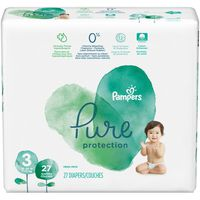 Pampers Pure Protection Diapers Size 3 27 Count