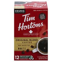 Tim Hortons Coffee, Medium Roast, Original Blend, K-Cup Pods