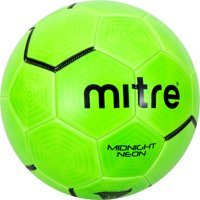 Mitre Midnight Neon Green Soccer Ball, Size 4