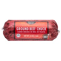 All Natural* 80% Lean/20% Fat Ground Beef Chuck Roll, 1 lb