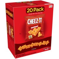 Cheez-It, Baked Snack Cheese Crackers, Original, Single Serve, 20 Ct, 20 Oz