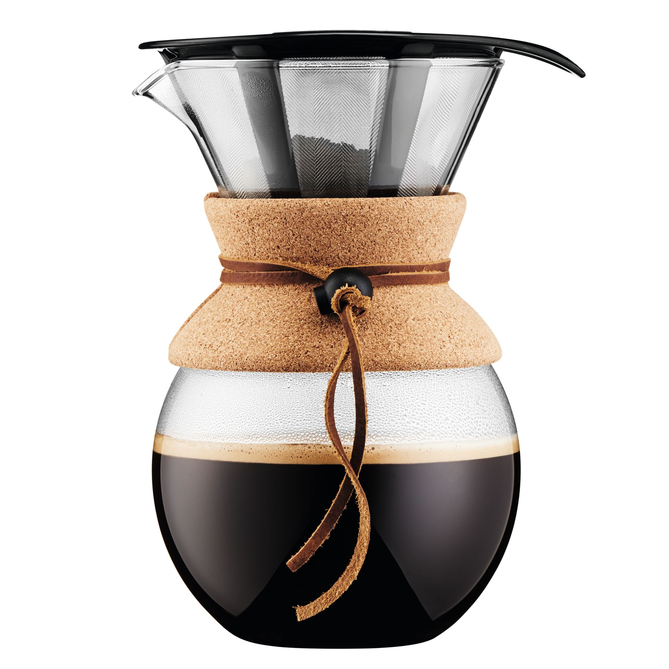 Bodum Pour over Coffee Maker with Permanent Filter, 1 L, 34 Ounce, Black