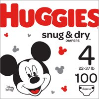 HUGGIES Snug & Dry Diapers, Size 4, 100 Count
