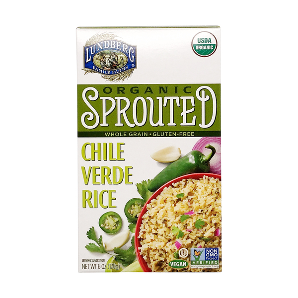 Lundberg family farms Organic Sprouted Chile Verde Rice, 6 oz