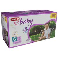 H-E-B Size 6 Baby Plus Diapers Pack