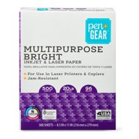 Pen + Gear Multipurpose Bright Paper, White, 500 Sheets