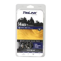 """TriLink S52.043 - 14"""" 2 Pack Replacement Saw Chain; 52 Drive Links; .043"""" Gauge"""