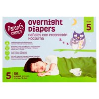 Parent's Choice Overnight Diapers, Size 5, 66 Diapers