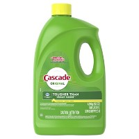 Cascade Dishwasher Detergent Gel, Lemon Scent - 155 oz