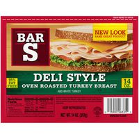 Bar S Turkey Breast, Deli Style, Oven Roasted