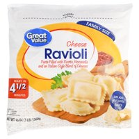 Great Value Cheese Ravioli Pasta Family Size, 48 oz