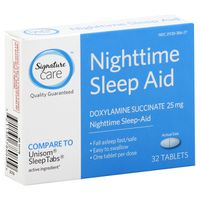 Signature Home Doxylamine Succinate 25 Mg Nighttime Sleep-aid Tablets