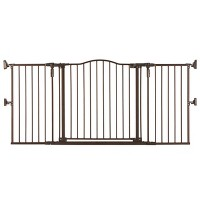 """Toddleroo by North States Gathered Home Baby Gate - Matte Bronze -  38.3""""-72"""" Wide"""