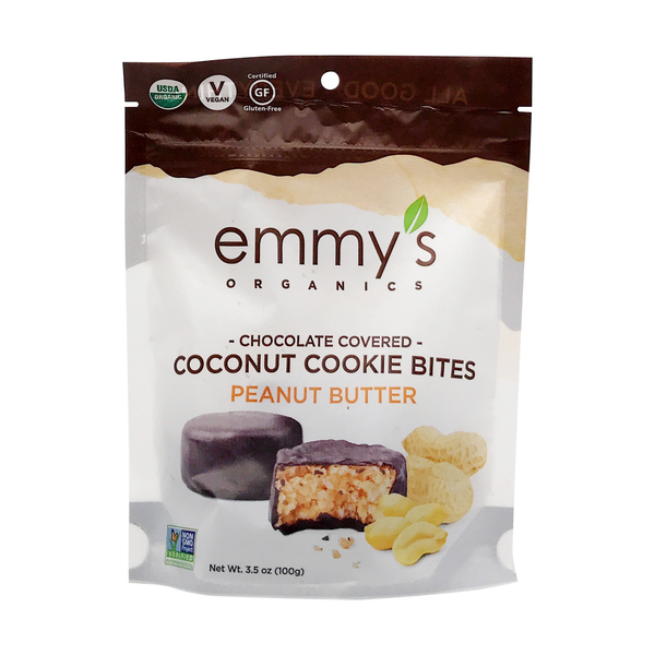 Organic Chocolate Covered Coconut Cookie Bite Peanut Butter, 3.5 oz