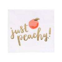 "20ct ""Just Peachy"" Summer Beverage Napkin with Foil - Spritz™"