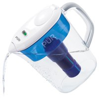 PUR Ultimate 7 Cup Pitcher with Lead Removal, PPT711W, White/Blue