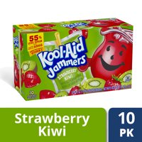 Kool Aid Jammers Strawberry Kiwi Flavored Drink, 10 ct - Pouches, 60.0 fl oz Box