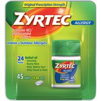 Zyrtec® 24 Hour Allergy Relief Tablets with Cetirizine HCl