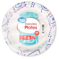 """Great Value Everyday Paper Snack/Dessert Plates, 6"""", 48 Count"""