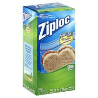 Ziploc Sandwich Bags, Smart Zip Seal
