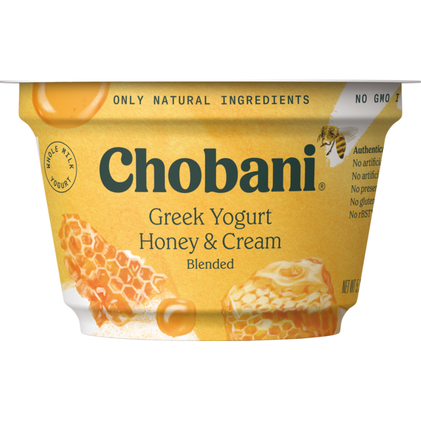 Chobani Honey & Cream Blended Greek Yogurt