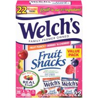 Welch's Fruit Punch and Berries N' Cherries Fruit Snack Value Pack, 0.9 Oz., 22 Count