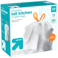 FlexGuard Tall Kitchen Drawstring Trash Bags - Unscented - 13 Gallon - 120ct - Up&Up™