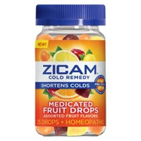 Zicam Cold Remedy Medicated Drops - Fruit - 25ct