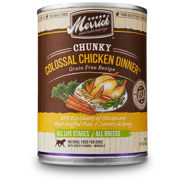 Merrick Chunky Colossal Chicken Dinner Natural Food For Dogs