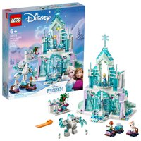 LEGO Disney Princess Elsa's Magical Ice Palace 43172 Frozen Castle Dollhouse Playset Building Toy with Anna, Olaf (701 pieces)