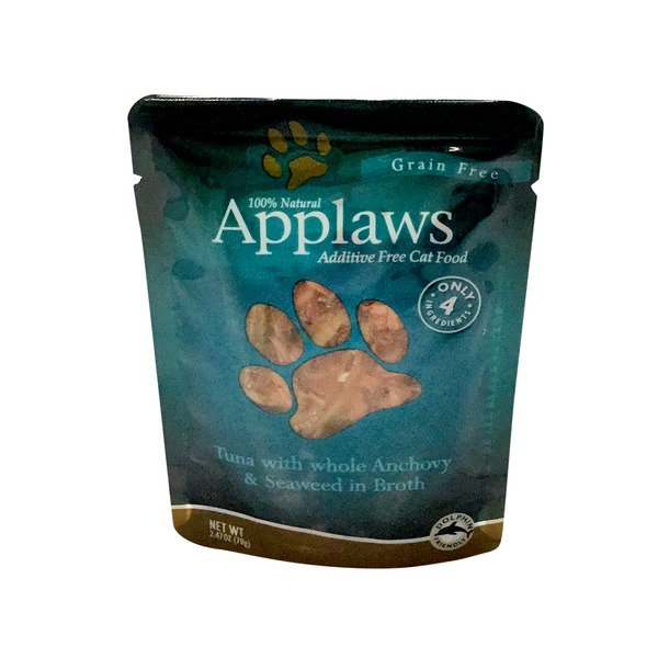 Applaws Grain Free Tuna With Whole Anchovy & Seaweed In Broth Limited Ingredients Cat Food