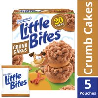 Entenmann's Little Bites Crumb Cakes, Topped with Brown Sugar & Cinnamon Crumbs, 5 count