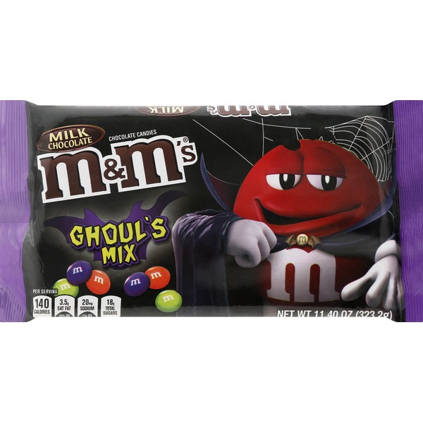 M&Ms Chocolate Candies, Milk Chocolate, Ghoul's Mix