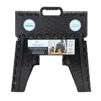 Mainstays Folding Step Stool 12 inch - Black