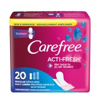 Carefree Acti-Fresh Regular Pantiliners To Go, Unscented, 20 Ct